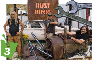 photo montage of the Rust Bros with tools